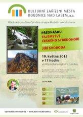 Plakát přednášky v Roudnici nad Labem