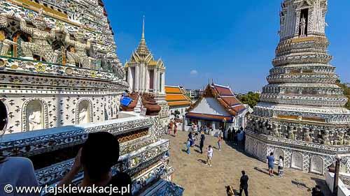 Tajskie wakacje - Bangkok zwiedzanie Świątynia Świtu Wat Arun