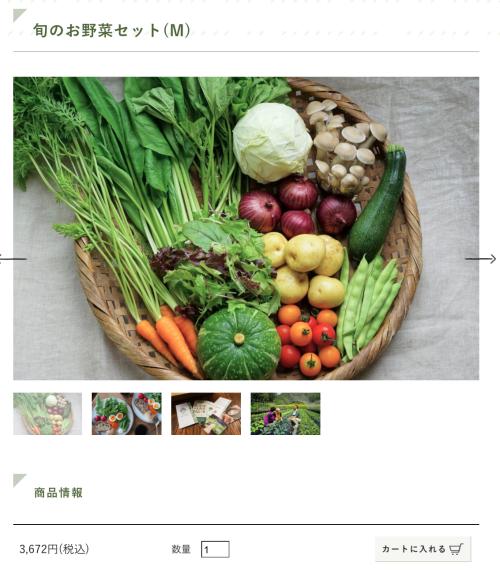 ザルに盛られた定期宅配野菜M