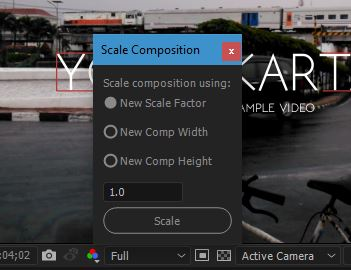 After Effects Scale Composition