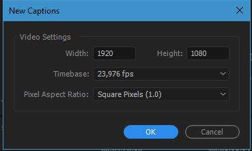 adobe premiere pro new captions - cara membuat subtitle