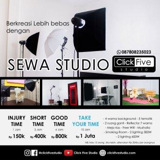 paket sewa studio click five studio