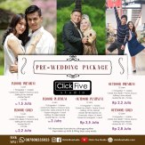 paket pre-wedding click five studio
