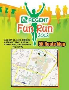Regent Run 5K Route Map