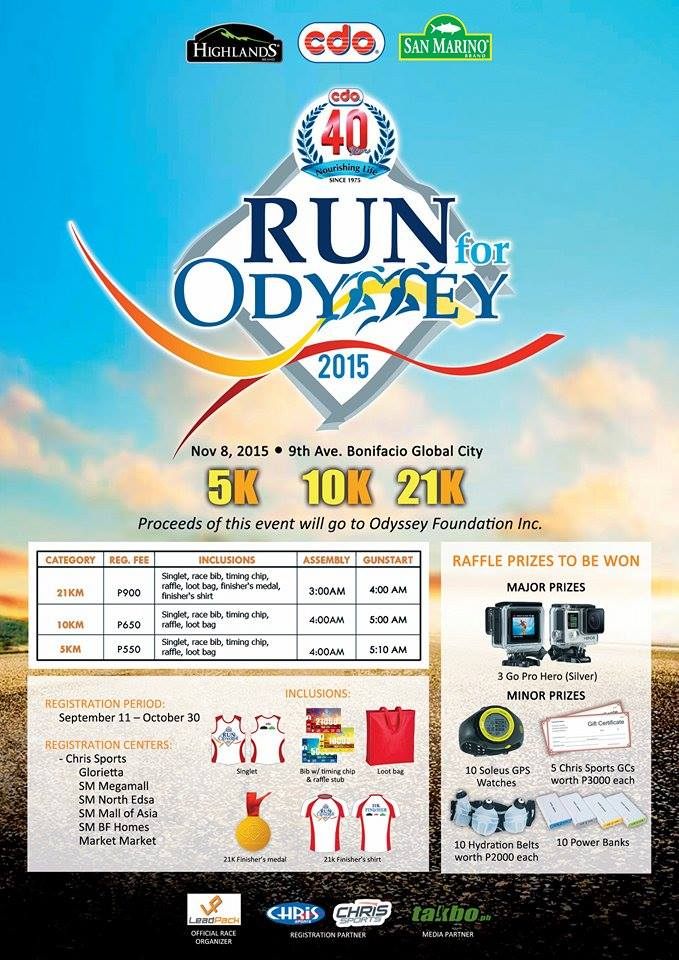 CDO @ 40 Run for Odyssey 2015