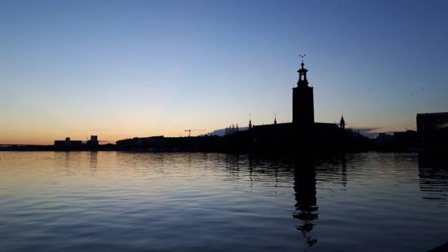 Zonsondergang Stockholm
