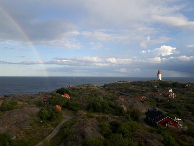 Regenboog boven Landsort