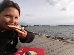 V.E.S.P.A in Malmö - pizza met zicht op de zonsondergang