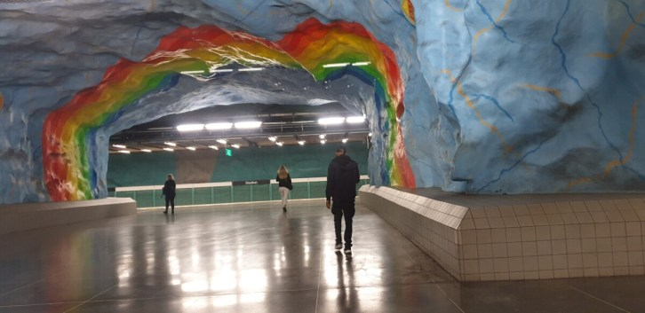 Kunst in de metro Stockholm
