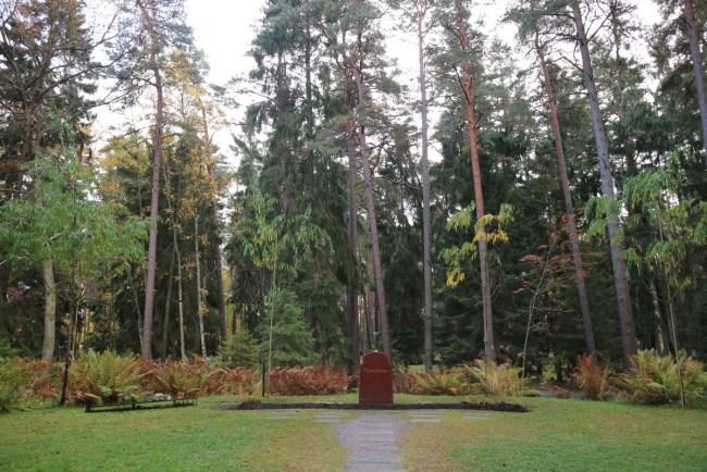 Het graf van Greta Garbo in Skogskyrkogården