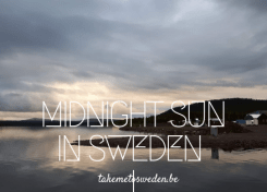 Midnight sun in Sweden