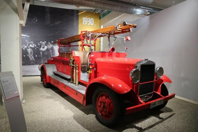 Volvo Museum Göteborg - brandweerwagen uit 1930