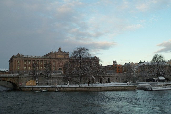 Sneeuw in Stockholm