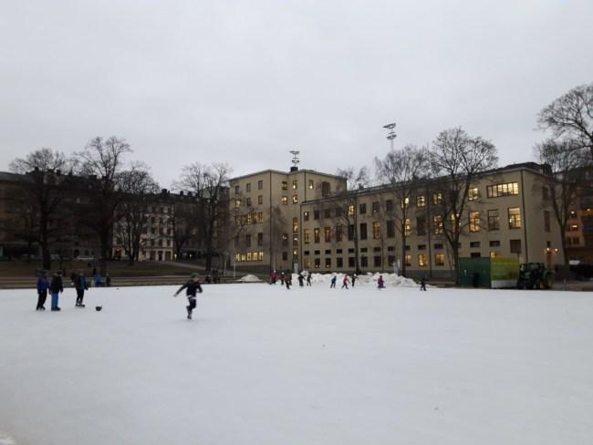 Schaatsen Vasaparken Stockholm