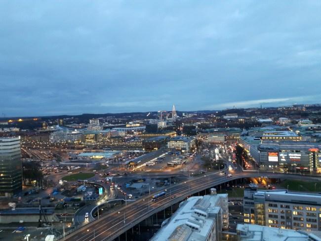 Zicht over Göteborg vanop Läppstiftet