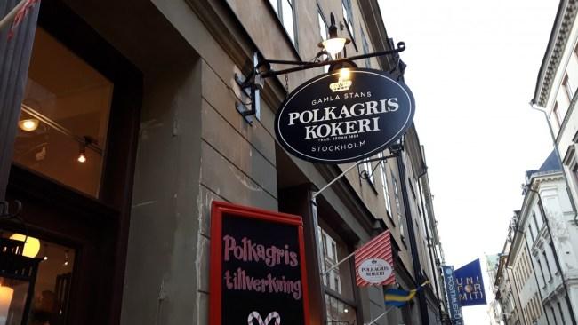 Polkagris Kokeri Gamla Stan Stockholm