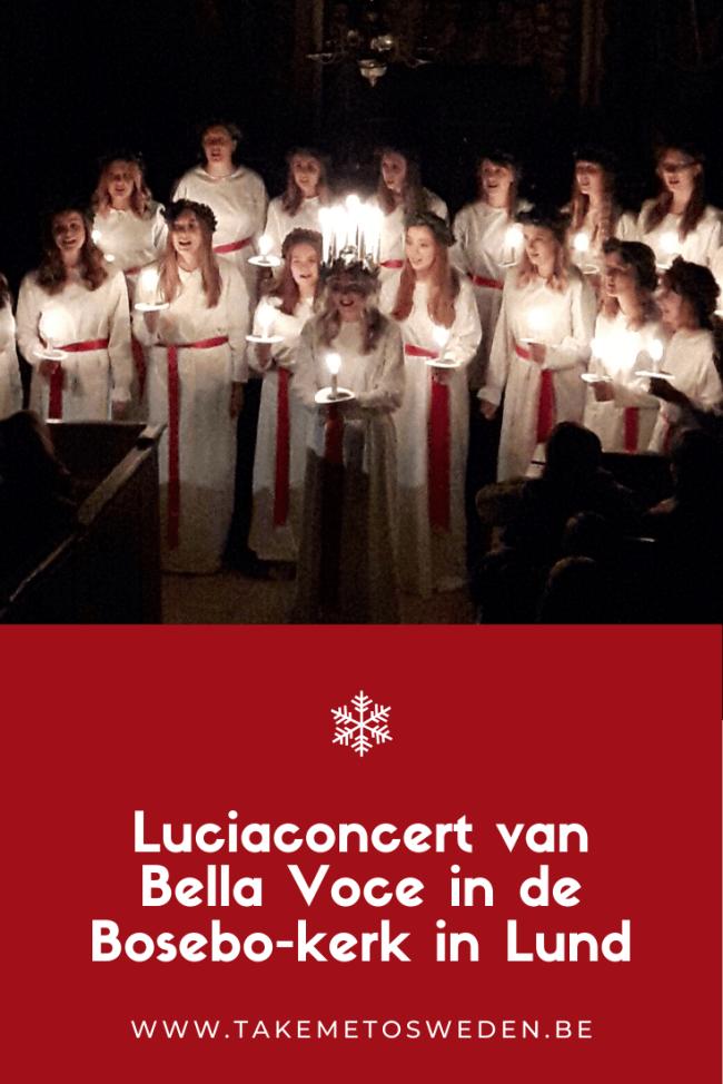 Luciaconcert van Bella Voce in de Bosebo-kerk in Lund