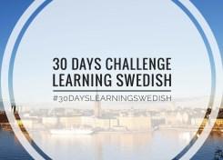 Learn Swedish in 30 days