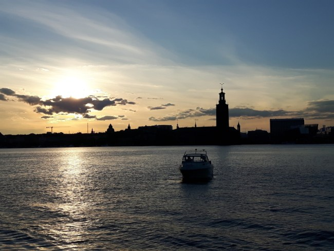 Stockholm sunset in the summer