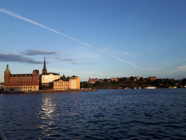 Stockholm op een zwoele zomeravond - Riddarfjärden