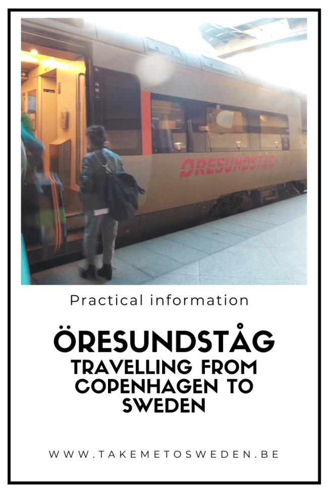 Öresundståg by train from Copenhagen to Sweden