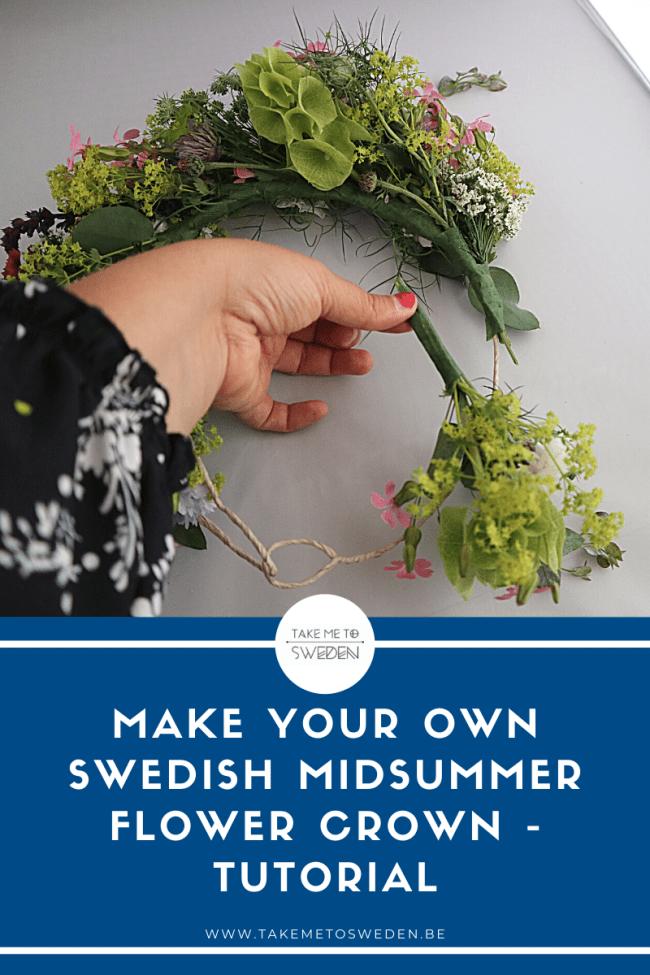Make your own swedish midsummer flower crown - tutorial