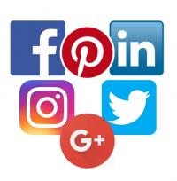 social media icons & virtual services