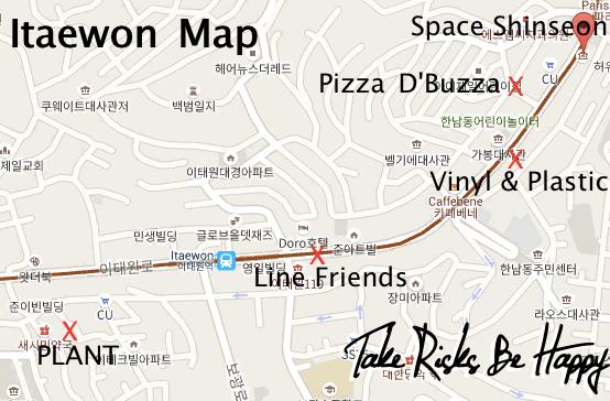 Itaewon Map TRBH