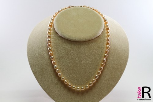 News Jewelry Biwa Pearl Necklace multicolor TOP 7-7½mm