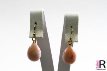 News Jewelry Pink Coral Earrings