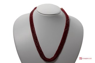 Rubies Necklace faceted washer 4 strands 3-3½mm 192kt