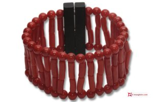 Mediterranean Red Coral Extra Bracelet beads and drum