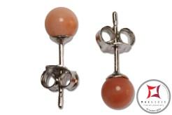 Extra Pink Coral Earrings 5½-6mm in Gold 18K [various diameters]