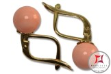 Extra Pink Coral Earrings 7-7¾mm in Gold 18K m [various diameters]
