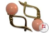 Extra Pink Coral Earrings 7-7¾mm in Gold 18K m [various diameters]