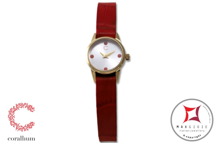 Corallium Watch 20mm Swiss movement with coral idw