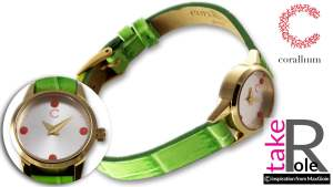 Corallium Watch 20mm Swiss movement with coral id06w