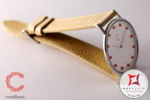 Corallium Watch 40mm Swiss movement with coral