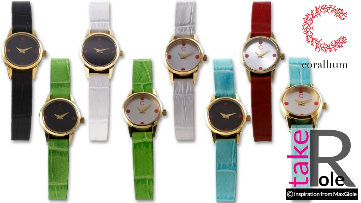 Women watches in coral