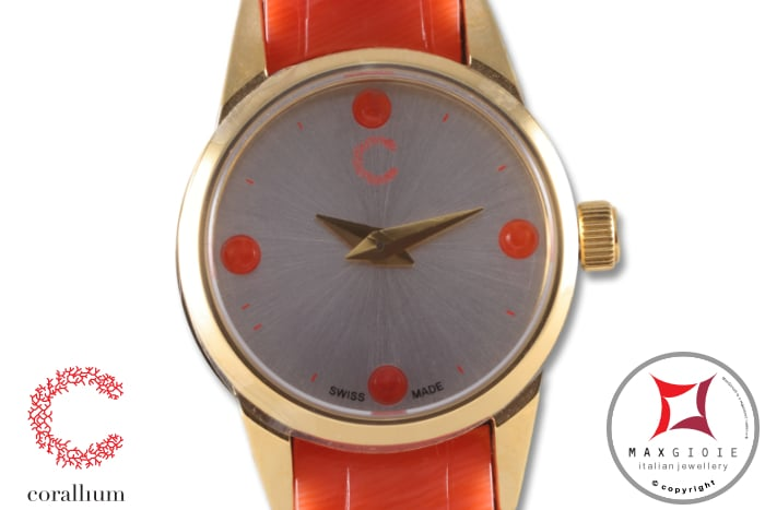 Corallium Watch 20mm Swiss movement with coral id00w