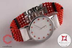 Corallium Watch 40mm Swiss movement with coral id09m