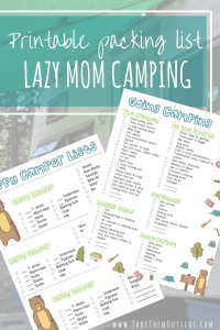 Car Camping | Make family camping packing easier with these cute printable lists.  There are also lists for the kids too.