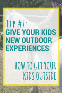 Check out all 10 tips for getting your kids outside more often. Sometimes it's hard to get the family motivate to go outdoors.