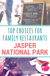Here's a local's top choices for family friendly restaurants in Jasper National Park, Canada | #Canada #Jasper #JasperNationalPark #familytrips