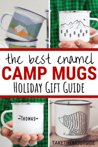 images of enamel mugs for camping gifts
