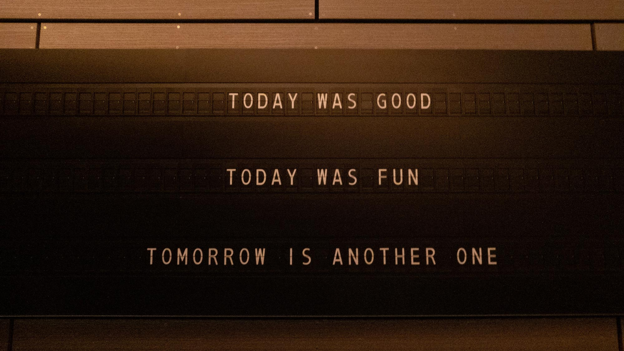 Today was good, today was fun, Tomorrow is another one. Photo by @jannerboy62/Nick Fewings on Unsplash