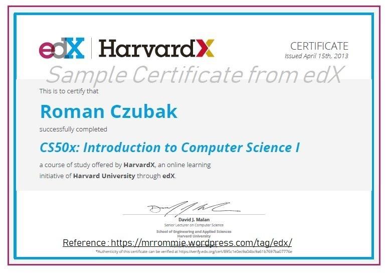 edX Sample Certificate