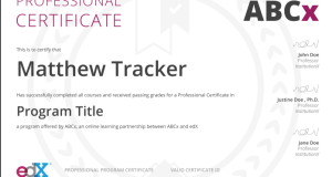 Professional Certificate Program