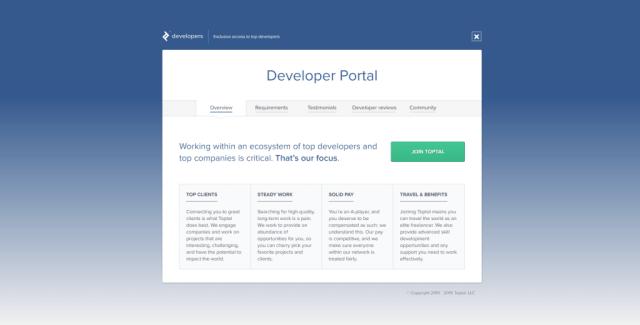 toptal developer