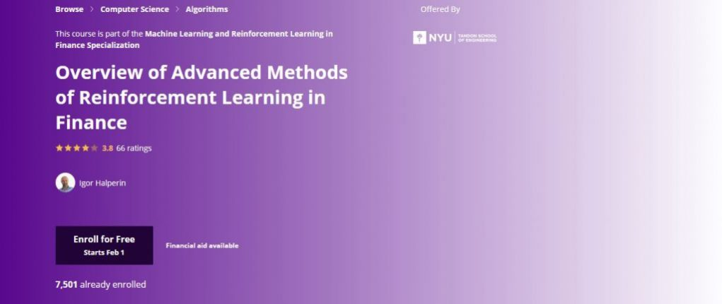 Overview of Advanced Methods of Reinforcement Learning in Finance